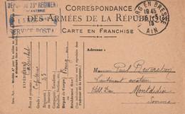 13595  De BOURG EN BRESSE (AIN) Pour MONTDIDIER (SOMME) Le 15/3/16 - 1. Weltkrieg 1914-1918