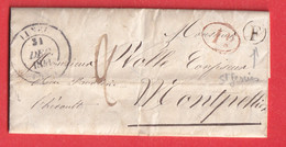 CAD TYPE 14 LUNEL HERAULT 1841 BOITE RURALE F ST GENIES DES MOURGUES - 1801-1848: Vorläufer XIX