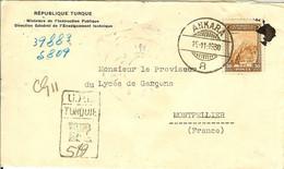 LETTRE REPUBLIQUE TURQUE MINISTERE DE L INSTRUCTION PUBLIQUE ANKARA - Briefe U. Dokumente