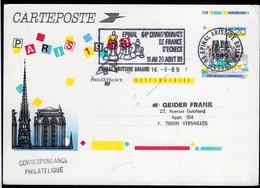 France - 1989 - Lettre - Carte - Entier Postale - Cachet Spécial - Tournois - Thème Des échecs - Chess - A1RR2 - Scacchi