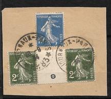 France  Fragment N° 278 Paire Millésime 8 ??  Et 279   Oblitérés  Paris Journaux Le 20 /09/1934 TB  .....  Soldé   ! ! ! - Journaux