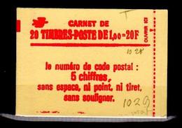 Carnet Yvert Et Tellier N° 1972-C3a - Timbre Type Sabine Rouge à 1F - Daté - Cote 140€ - Carnet Ouvert - Gomme Mat - Definitives