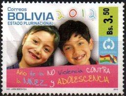 Bolivia 2012 ** CEFIBOL 2123, Dia Del Niño. Año De La NO Violencia Contra Niños Y Adolescentes - Bolivia