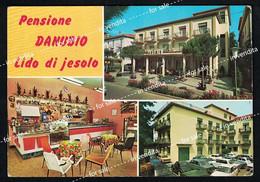Lido Di Jesolo Pensione Danubio Viaggiata 1971 Vintage Used Hotel Bafile Granchi Venezia - Venezia (Venice)