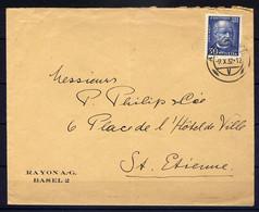 Lil3AA90 SUISSE Lettre 1932 Pour St Etienne France  YvT 262 Emile Welti - Brieven En Documenten