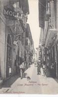 PALLANZA-VERBANO CUSIO OSSOLA-VIA CAVOUR- BELLISSIMA E ANIMATA CARTOLINA NON VIAGGIATA -1900-1904 - Verbania