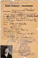WW2-SAUF-CONDUIT PROVISOIRE-1940-délivré Par Gendarmerie - 1939-45