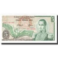 Billet, Colombie, 5 Pesos Oro, 1977, 1977-07-20, KM:406e, NEUF - Kolumbien