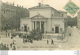 WW PARIS XVII. Eglise Sainte-Marie Des Batignolles 1907 Timbre Taxe... - Paris (17)