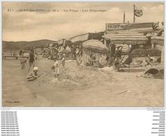 06 JUAN-LES-PINS. Plage Et Baigneurs 1927 - Juan-les-Pins