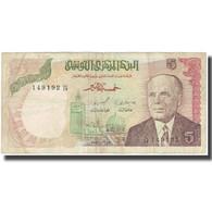 Billet, Tunisie, 5 Dinars, 1980, KM:75, TB - Tusesië