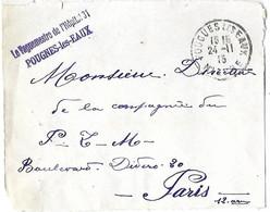 FRANCE - Pougues Les Eaux Devant De Lettre Marque Linéaire Erronée - Le Vaguemestre De L'Hôpital 31 - POUGNES Les EAUX - - 1877-1920: Semi Modern Period