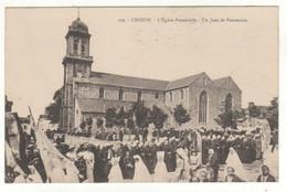 Cpa N° 199 CROZON L ' Eglise Paroissiale Un Jour De Procession - Crozon