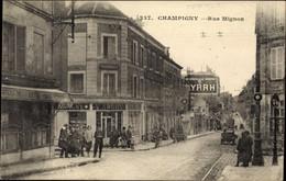 CPA Champigny Val De Marne, Rue Mignon - Otros Municipios