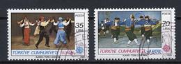 Turquie - Türkei - Turkey 1981 Y&T N°2318 à 2319 - Michel N°2546 à 2547 (o) - EUROPA - Usados