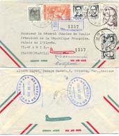 MEXIQUE RECOMMANDÉ ORIZABA TàD MAY 18 1966  Pour GÉNÉRALCHARLES De GAULLE - Mexiko