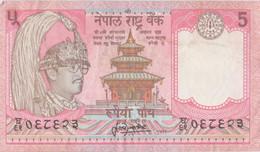 Népal - Billet De 5 Rupees - Birenda Bir Bikram - Yacks - Non Daté (1987) - P30a - Nepal