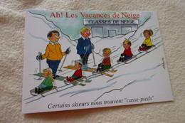BELLE ILLUSTRATION HUMORISTIQUE....LES VACANCES DE NEIGE ...LES CASSE-PIEDS - Alexandre