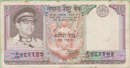 Népal - Billet De 10 Rupees - Birenda Bir Bikram - Chevreuil - Non Daté (1974) - P24a - Nepal