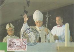 Carte  FRANCE  Hommage  Au   Pape  JEAN  PAUL  II    ARS  SUR  FORMANS   1986 - Popes