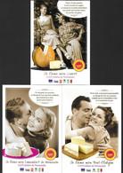 3 CPM.  Les Fromages AOP De Normandie.  Livarot, Pont-l'Evêque, Camembert.   Recette Au Verso.   Postcard. - Advertising