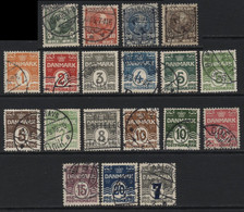 Denmark (16) 1904 , 1905 19 Different Values. Used - Gebraucht
