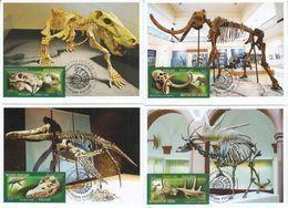 2872-2875 Mih 2655-2658 Russia 06 2020 NO EXTRA FEES Maximum Card Prehistoric Fauna Dinosaurs Mammoths Paleontological H - Cartoline Maximum