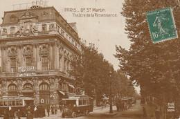 IN 25-(75) PARIS - Bd SAINT MARTIN - THEATRE DE LA RENAISSANCE - OMNIBUS - 2 SCANS - Arrondissement: 10