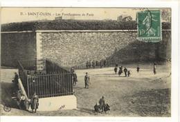 Carte Postale Ancienne Saint Ouen - Les Fortifications De Paris - Saint Ouen