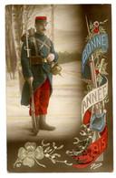 Cpa, N°87. N.BOULANGER. GLORIA. Bonne Année. Militaire, Colorisée. Date 1915 /n 152 - New Year