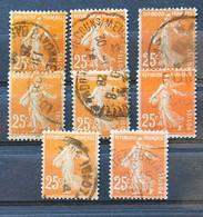 France 1927 - Petit Lot De Semeuses Camée - N° 235 - 1906-38 Sower - Cameo