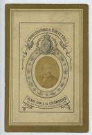 France Comte De Chambord Image Mortuaire Vers 1883 Avec Petite Photo - Imágenes Religiosas