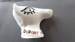 Cendrier Dupont En Forme De Tête De Cheval Signé Jean Effel - Porcelana