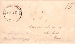 USA - LETTER HUMPHREYSVILLE, CONN > HARTFORD, CONN /G49 - …-1845 Prefilatelia