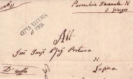 ITALY - LETTER 1853 CITTA VECCHIA /G51 - 1. ...-1850 Prefilatelia