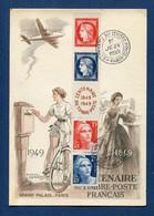 ⭐ France - Carte Maximum - Centenaire Du Timbre Poste - Paris - 1949 ⭐ - 1940-49