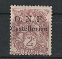 Castellorizo N° 15 Avec Charniére * Type Blanc - Ungebraucht