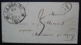 Lamarche (Vosges) 1844 Cad T 12, Lettre Sans Correspondance - 1801-1848: Précurseurs XIX