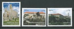 Lebanon NEW 2015 MNH - Famous Monasteries - Christianity - Maronite, Orthodox & Catholic - Complete Set Of 3v. - Líbano