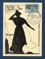 ⭐ France - Carte Maximum - Journée Du Timbre - Avignon - 1964 ⭐ - 1960-69