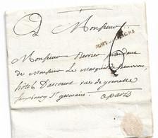 """Lettre Concernant Le Marquis De Beuvron, Hôtel D'Arcourt   1765   Linéaire """"Pont De L'Arche"""" - Manoscritti"""