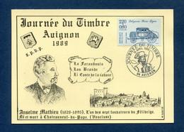 ⭐ France - Carte Maximum - Journée Du Timbre - Avignon - 1989 ⭐ - 1980-89