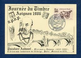 ⭐ France - Carte Maximum - Journée Du Timbre - Avignon - 1986 ⭐ - 1980-89