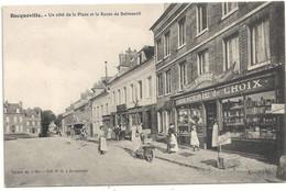 76 Bacqueville Un Côté De La Place Et La Route De Belmesnil - Other Municipalities