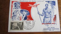 1833         CENTELAIRE DU TIMBRE COLONIAL  PARIS 58 - Sin Clasificación
