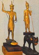 Egypte-CAIRO -Le CAIRE -Egyptian Musum Tutankamen's Treasures Statues D'or Tutankhamun Toutânkhamon (timbre Stamp) - Cairo