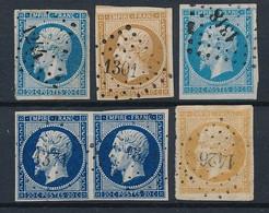 P-260: FRANCE: Lot  Avec Obl Pc 1244 Ind 7-1301 Ind 7-1318 Ind 6-1371 Ind 7- 1426 Ind 6 - 1853-1860 Napoleon III