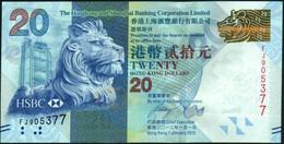 ♛ HONG KONG - 20 Dollars 01.01.2010 {H.S.B.C.} UNC P.212 A - Hong Kong