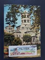 France Distributeur ATM Lisa #1220 Carte Maximum CARD PJ Premier Jour Issoire Marcophilex 14.10.2017 - 2010-...