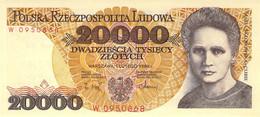20 000 Zloty Polen UNC (I) 1989 - Polen